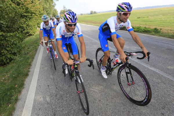 Campionati del Mondo Toscana 2013 - Road World Championship 2013 - Allenamento Italia - 25/09/2013 - Michele Scarponi - Diego Ulissi (Italia) - foto Luca Bettini/BettiniPhoto©2013